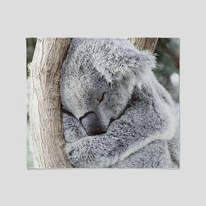 Sleeping Koala baby Throw Blanket