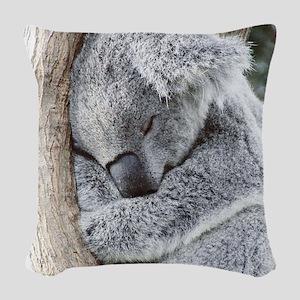 Sleeping Koala baby Woven Throw Pillow