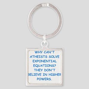 atheist math Keychains