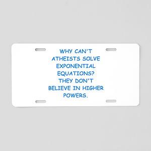 atheist math Aluminum License Plate
