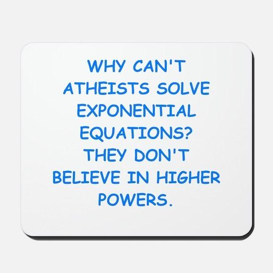 atheist math Mousepad