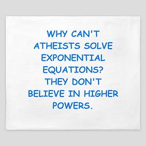 atheist math King Duvet