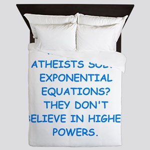 atheist math Queen Duvet