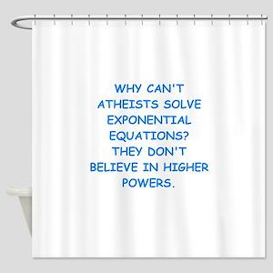 atheist math Shower Curtain