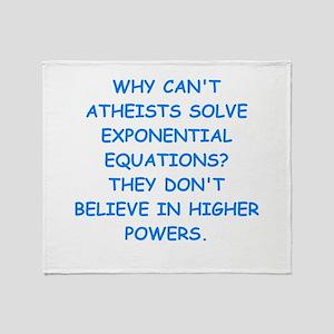 atheist math Throw Blanket
