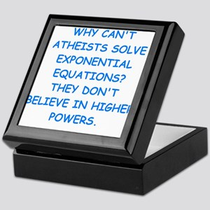 atheist math Keepsake Box