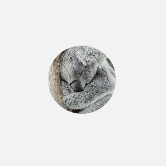 Sleeping Koala baby Mini Button
