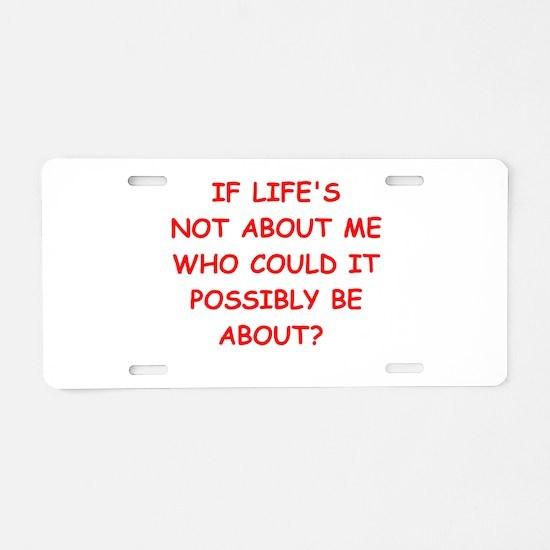 self centered Aluminum License Plate