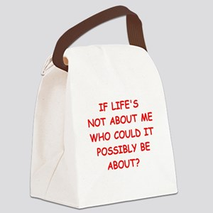 self centered Canvas Lunch Bag