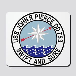 DD-753 USS John R Pierce Destroyer Ship Mousepad