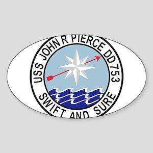 DD-753 USS John R Pierce De Sticker
