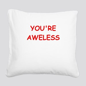loser Square Canvas Pillow