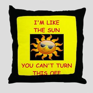 self centered Throw Pillow