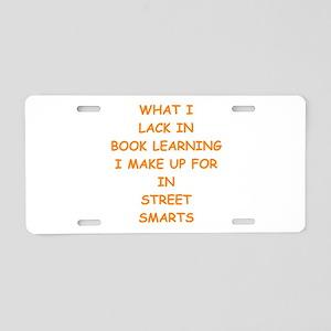 street smart Aluminum License Plate