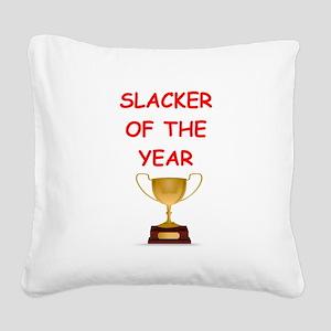 slacker Square Canvas Pillow