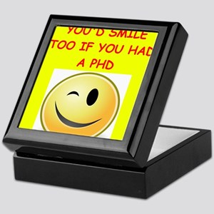 phd joke Keepsake Box