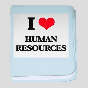 I Love Human Resources baby blanket