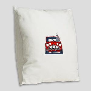 Mini Cooper Burlap Throw Pillow