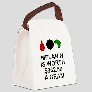 Melanin is $362.50 a gram Canvas Lunch Bag