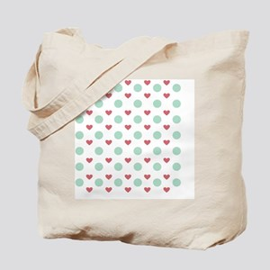 Heart and dot design Tote Bag