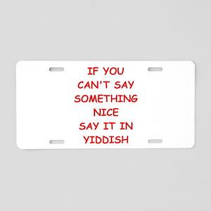 yiddish Aluminum License Plate