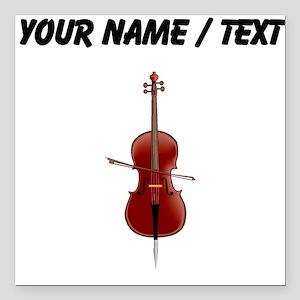 """Custom Cello Square Car Magnet 3"""" x 3"""""""