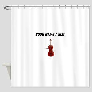 Custom Cello Shower Curtain