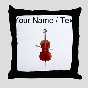 Custom Cello Throw Pillow