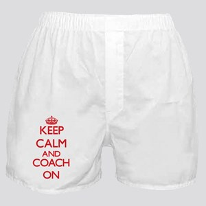 Keep Calm and Coach ON Boxer Shorts