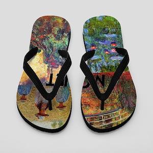 Monet Collage Flip Flops