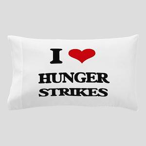 I Love Hunger Strikes Pillow Case