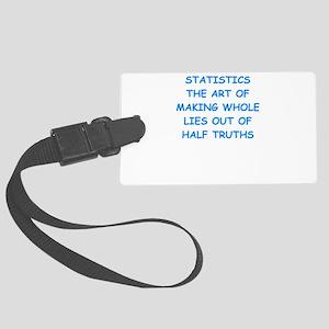 statistics Luggage Tag