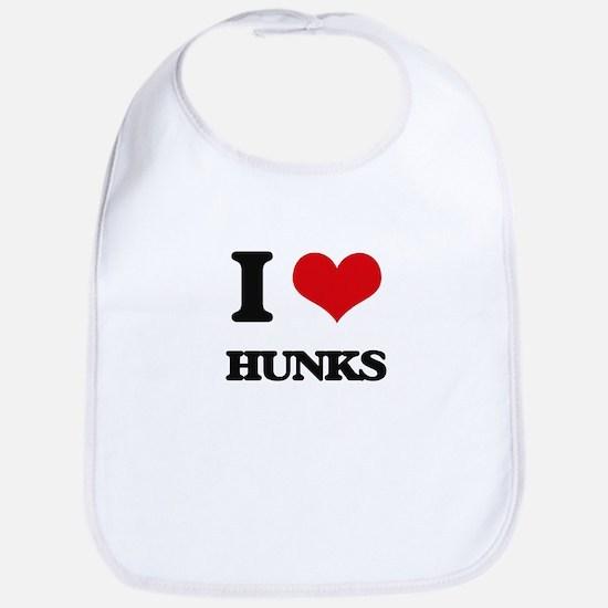 I Love Hunks Bib
