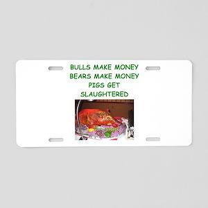 bulls and bears Aluminum License Plate