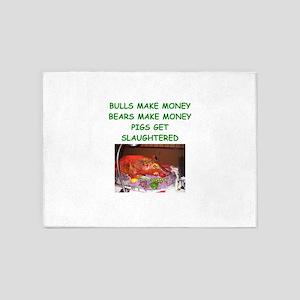 bulls and bears 5'x7'Area Rug