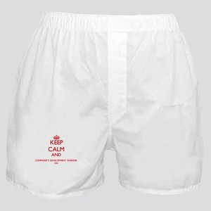 Keep Calm and Community Development W Boxer Shorts