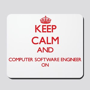 Keep Calm and Computer Software Engineer Mousepad