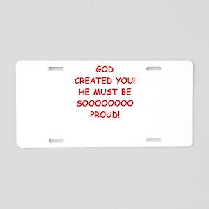 pride Aluminum License Plate