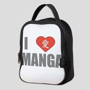 I Love Manga Neoprene Lunch Bag