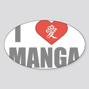 I Love Manga Sticker