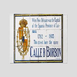 Rue Bourbon Throw Blanket