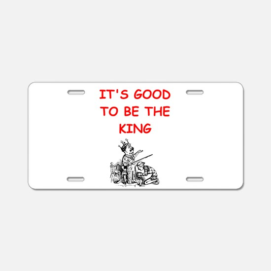 king Aluminum License Plate
