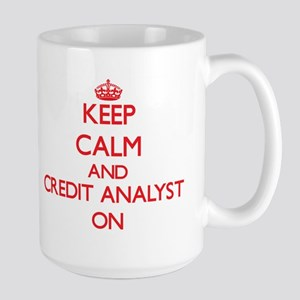 Keep Calm and Credit Analyst ON Mugs