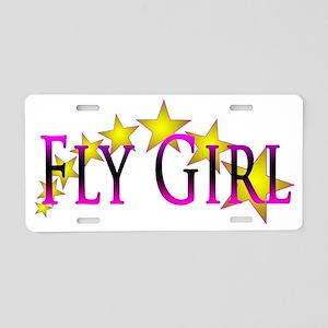 Flygirl Gold Star Aluminum License Plate