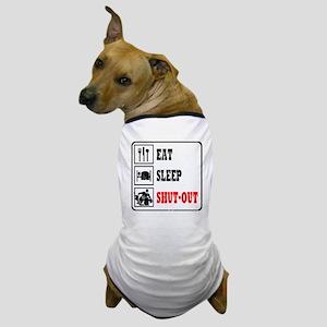 Eat Sleep Hockey -Goalie Dog T-Shirt
