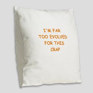 evolution Burlap Throw Pillow