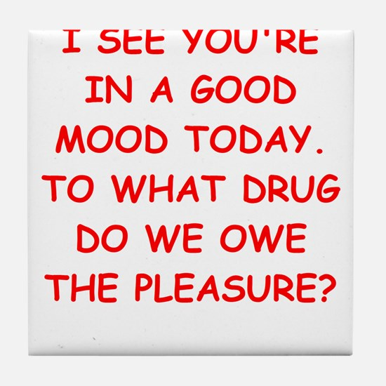 good mood Tile Coaster