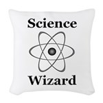 Science Wizard Woven Throw Pillow