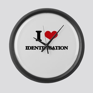 I Love Identification Large Wall Clock