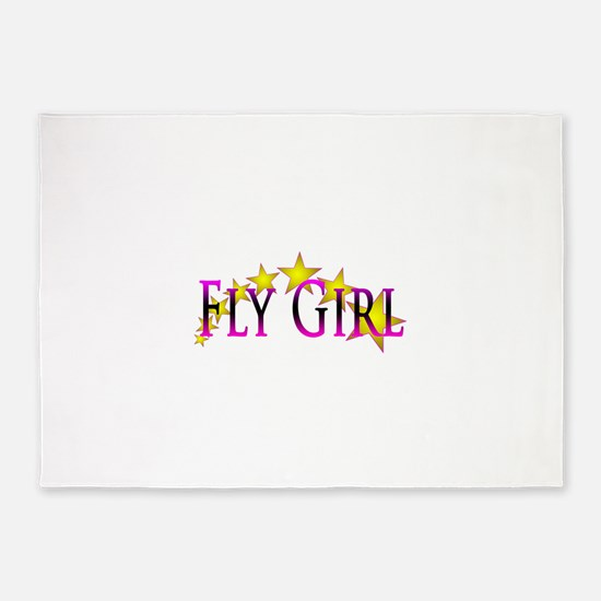 Flygirl Gold Star 5'x7'Area Rug